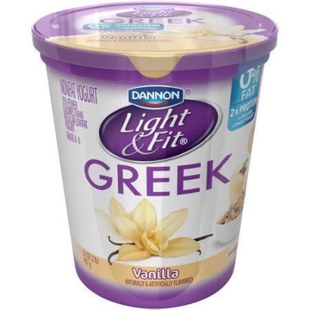 light n fit greek yogurt dannon light fit greek vanilla nonfat yogurt 32 oz