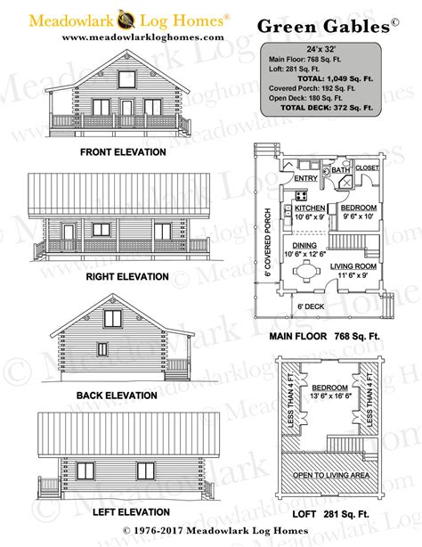 green small house plans of green gables house floor plan