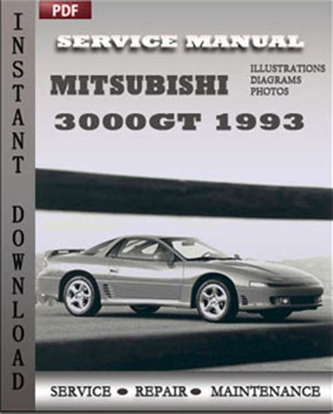 car maintenance manuals 1993 mitsubishi 3000gt auto manual 1993 mitsubishi 3000gt service manual free printable 1992 1996 mitsubishi 3000gt service