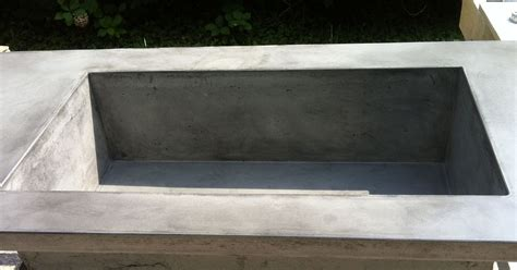 large farmhouse sink concrete countertop with large integral farmhouse sink