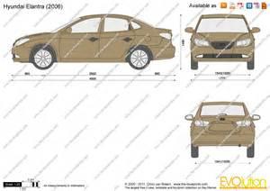 the blueprints vector drawing hyundai elantra