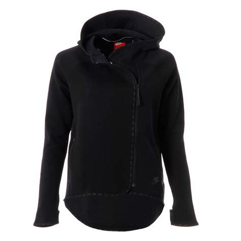 Nike Zipper Jaket nike womens tec fleece cape side zipper sleeve hooded jacket top ebay