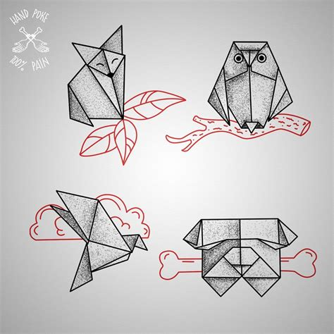 origami tattoo origami flash 100 studio join https