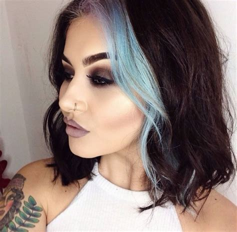 streaked hair color pictures 25 best ideas about colored hair streaks on pinterest
