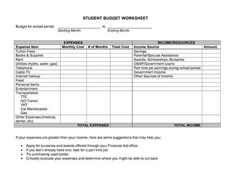 best photos of sle school budget spreadsheet sle