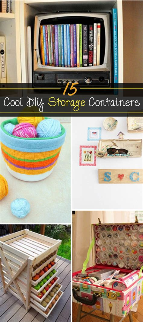 diy storage 15 cool diy storage containers hative