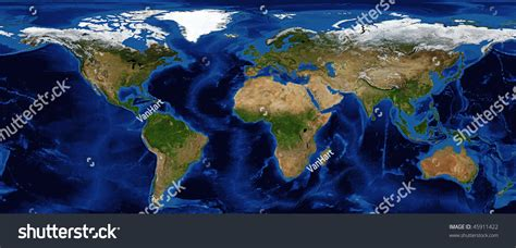snow cover map world world map shaded relief bathymetry snow stock photo