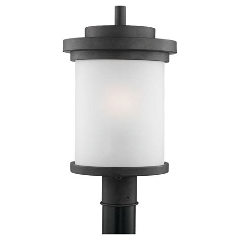 Home Depot Outdoor Post Lighting Sea Gull Lighting Winnetka 1 Light Forged Iron Outdoor