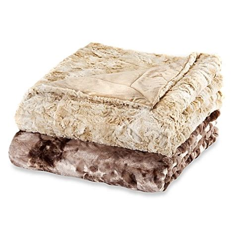 bed bath and beyond throws faux fur oversized reversible throw bed bath beyond