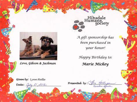 sponsor certificate template sponsor a homeless animal hinsdale humane society