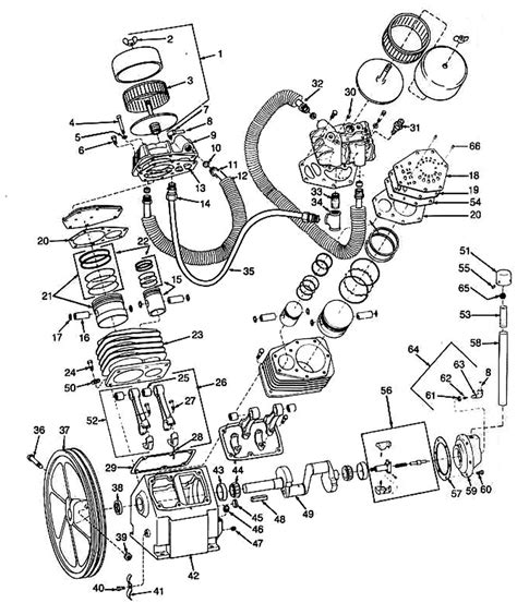 ingersoll rand air compressor parts diagram automotive parts diagram images