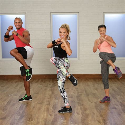 at home cardio boxing workout popsugar fitness