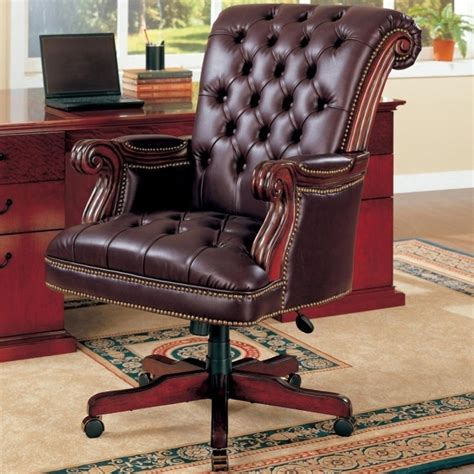 leather office furniture brown leather tufted office furniture chairs with armrest for home furniture ideas photos 83