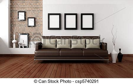 Brown Living Room Clipart Clipart Of Contemporary Living Room Brown Sofa With
