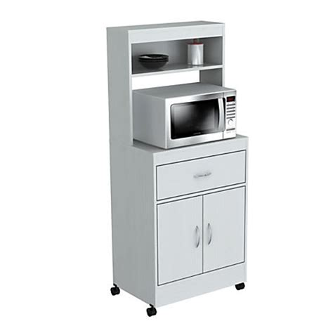 inval storage cabinet with microwave stand 2 shelves 54 h