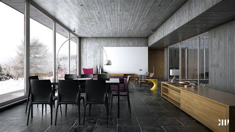 modern interior winter house