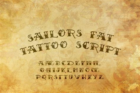 sailor s fat tattoo script demo font family 183 1001 fonts