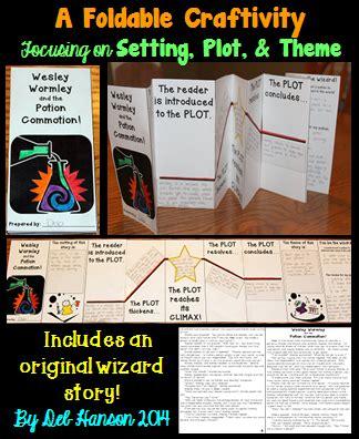 story elements themes plot setting theme foldable craftivity with story