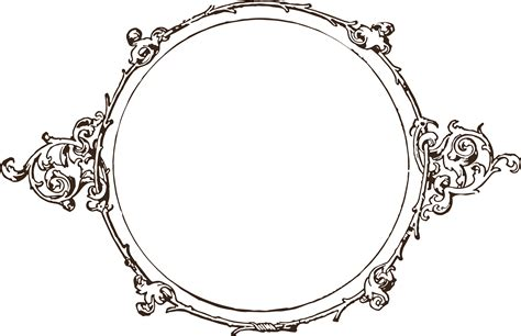 royalty free image vintage scroll frame oh so nifty