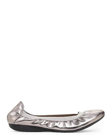 century 21 shoes century 21 silver pewter winner ballet flats lyst