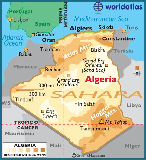 5 themes of geography for zambia algeria large color map