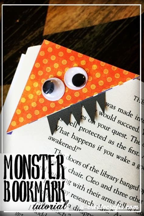 printable monster bookmarks monster bookmarks with free printable template