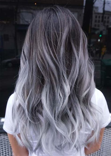 Salt And Pepper Hair With Lilac Tips | salt and pepper hair with lilac tips how to purple shoo