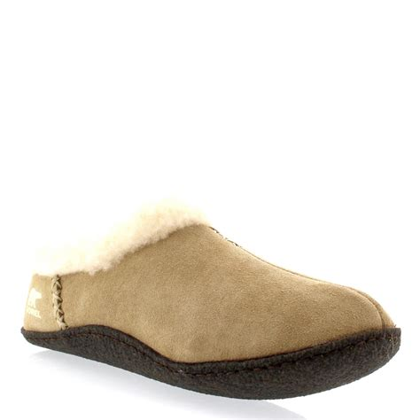 house slippers womens sorel nakiska winter fur lined warm suede house
