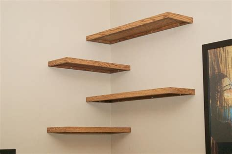 wood floating wall shelves best decor things