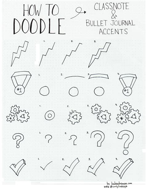how to make a on doodle how to draw bullet journal doodle note accents part 2
