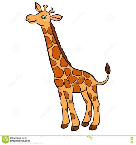 imagenes de jirafas para ninos animales salvajes de la historieta para los ni 241 os peque 241 a