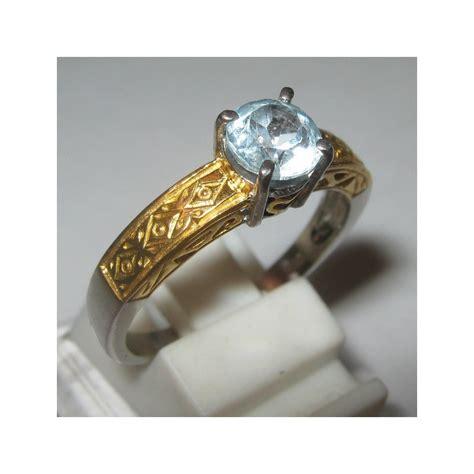 Silver Ring Sv18 Blue Topaz Batu Permata Cincin Perak cincin pria batu permata blue topaz silver etnis ring 8us
