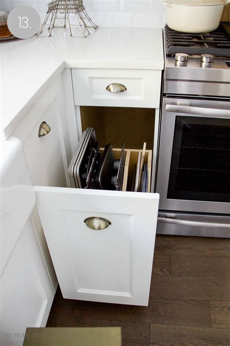 Cookie Sheet Drawer by Kitchen Cupboard And Drawer Organization So Much Better