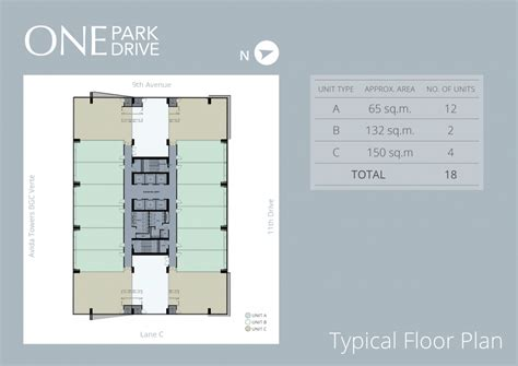 typical floor plan one park drive 171 ayalaland communities