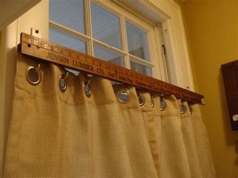 stick on curtain rod remodelaholic 25 creative diy curtain rod tutorials