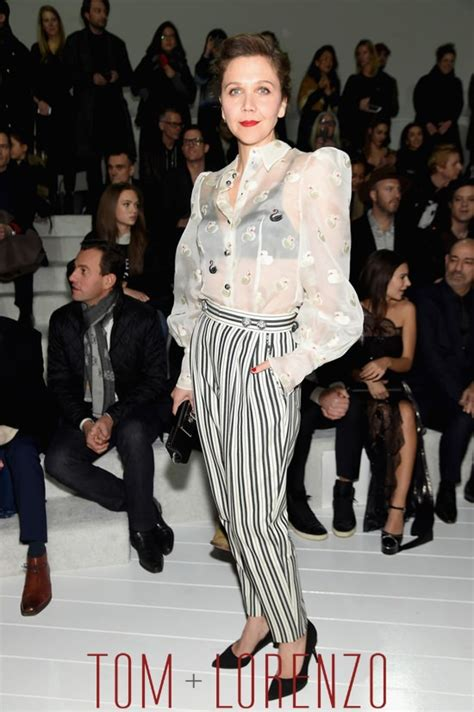 New York Fashion Week Marc Backwards Show by Maggie Gyllenhaal At The Marc Show Tom Lorenzo