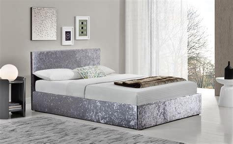 berlin bedroom furniture berlin silver crushed velvet ottoman double bed only 163 239