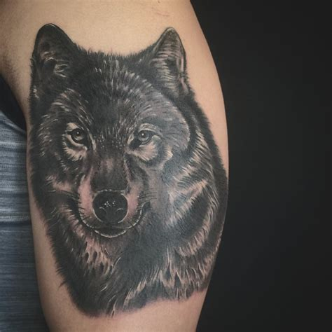 body art and soul tattoo wolf done by oksana weber yelp