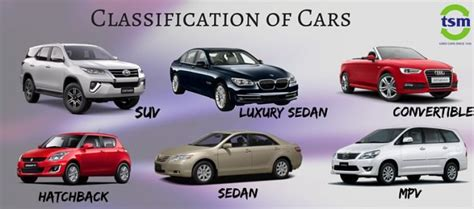 Car Types In India basic classification in cars