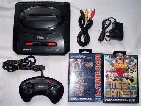 Kaset Sega Mega Drive Kaset Sega Genesis sega megadrive 2 mega drive 2 with controller leads and six on 2 cartridges in