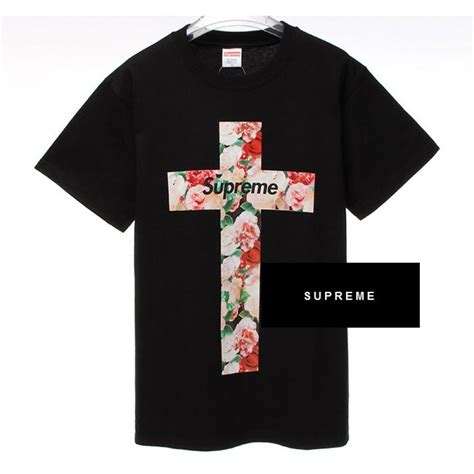 t shirt supreme supreme quot nyc floral cross quot t shirt black