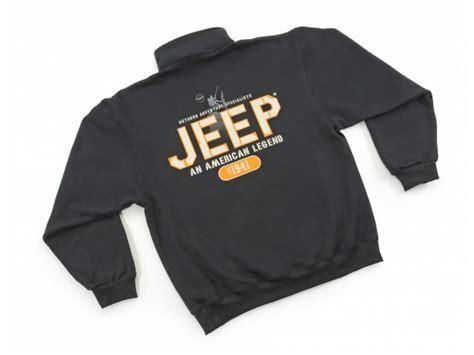 Sweaterhoodie Jeep Wrangler Jaket jeep clothing an american legend 1 4 zip sweatshirt in black quadratec