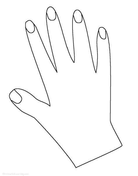 coloring pages of hands with nails h poetry prompts enchantedlearning com