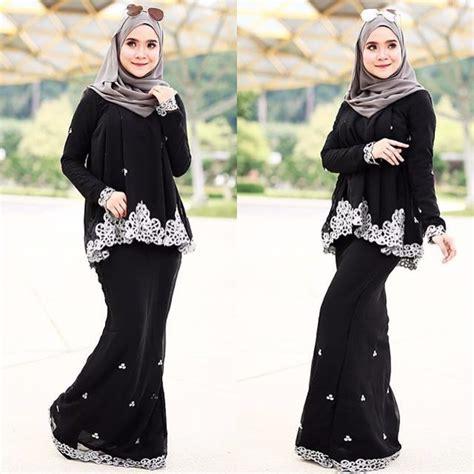 Baju Melayu Hitam Emas baju kurung doll saree hitam fesyen muslimah di carousell