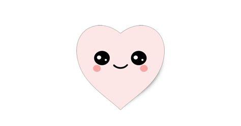 Wall Stickers Hearts kawaii heart face heart sticker zazzle com