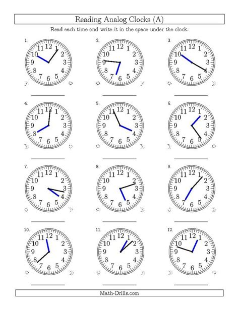 worksheet clock reading new 2015 04 09 reading time on 12 hour analog clocks in 1