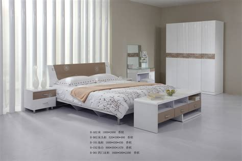 China Bedroom Furniture White Shine B A02 China Bedroom Set Mdf Bed