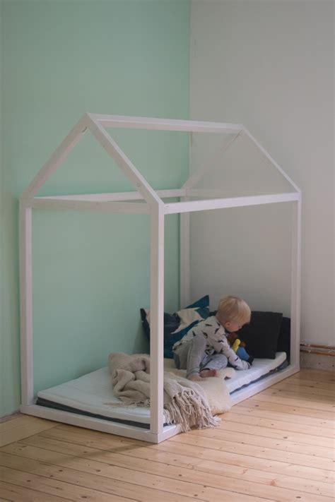 Hausbett Bauen by Hausbett Selbst Bauen Bauanleitung F 252 R Ein Kinder Floor Bed