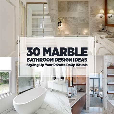 Shower Ideas Small Bathrooms by 30 Marble Bathroom Design Ideas Styling Up Your Private