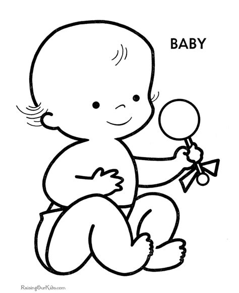 baby coloring pages free printable baby shower coloring pages coloring home